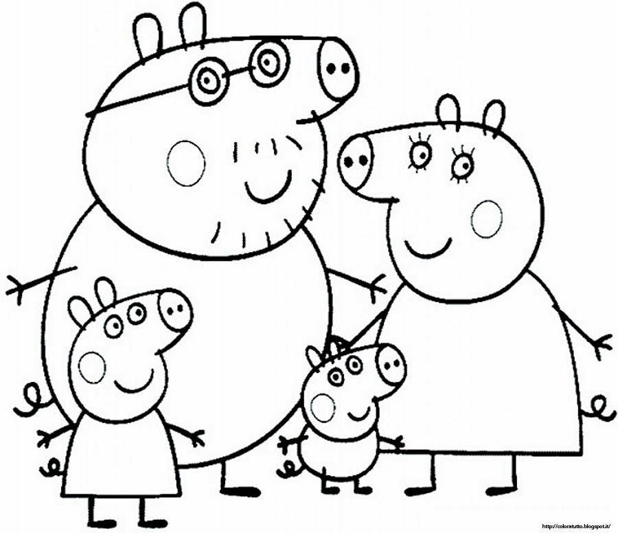 Picture Of A Pig To Color #4 Peppa Pig Coloring Pages Print Peppa pig colouring Peppa