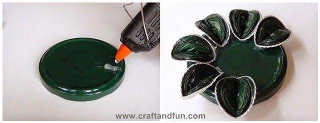 un bougeoir avec des capsules nespresso hobby 39 s de nadou recyclage pinterest capsules. Black Bedroom Furniture Sets. Home Design Ideas