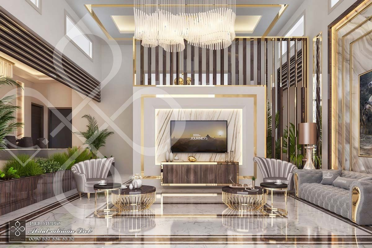 Entrance Hall With Seating Corner And Dining Room Ksa With