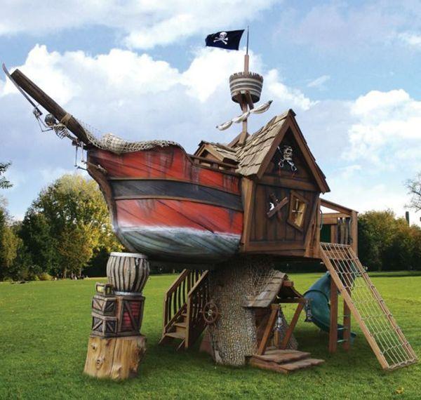 Spielturm Piratenschiff Schafft Viel Freude Fur Ihre Kinder Hinterhof Spielplatz Spielturm Hintergarten