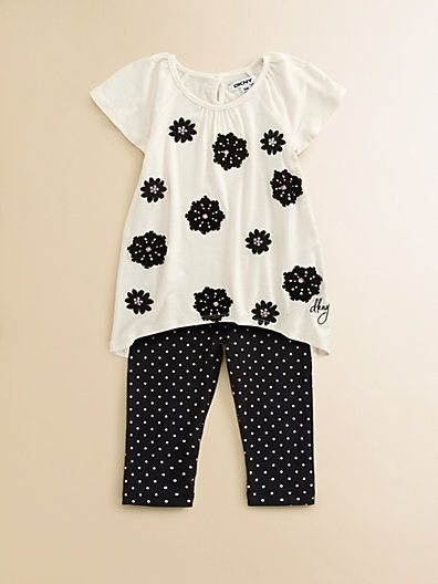Spring 13'-DKNY - Infant's Embellished Tunic Set