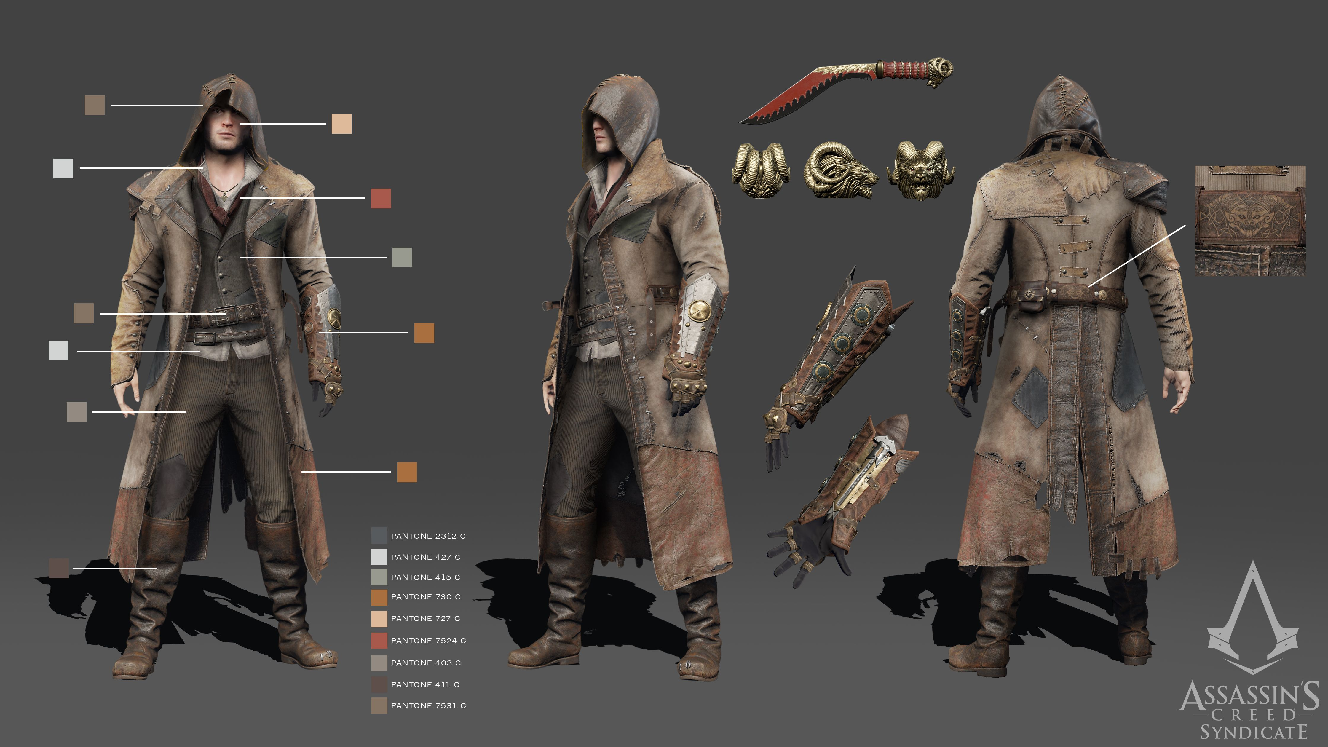 Assassin S Creed Syndicate Victorian Legends Costume Turnarounds