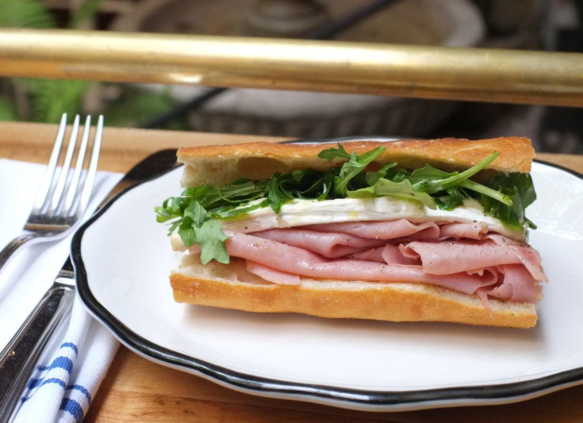 Ham and Camembert Baguette