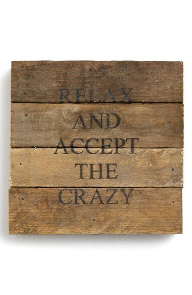 Second Nature By Hand 'Accept the Crazy' Repurposed Wood Wall Art available at #Nordstrom