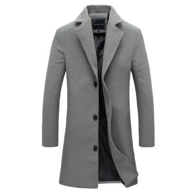 New Men Wool Blends Suit Design Wool Coat Men Casual Trench Coatliligl –  liligla   Long coat men, Mens wool coats, Mens winter fashion