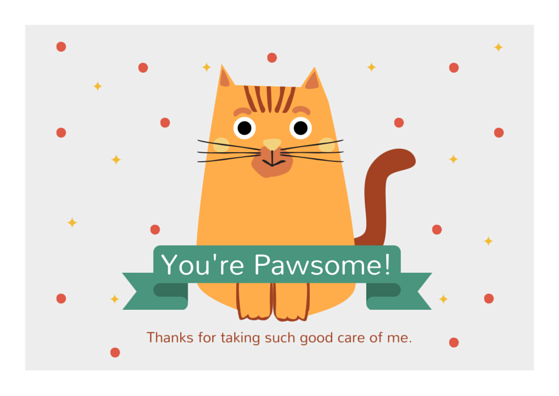 graphic about Free Printable Cat Birthday Cards titled Puppy Sitter Thank By yourself Card Messages Canine Birthday card