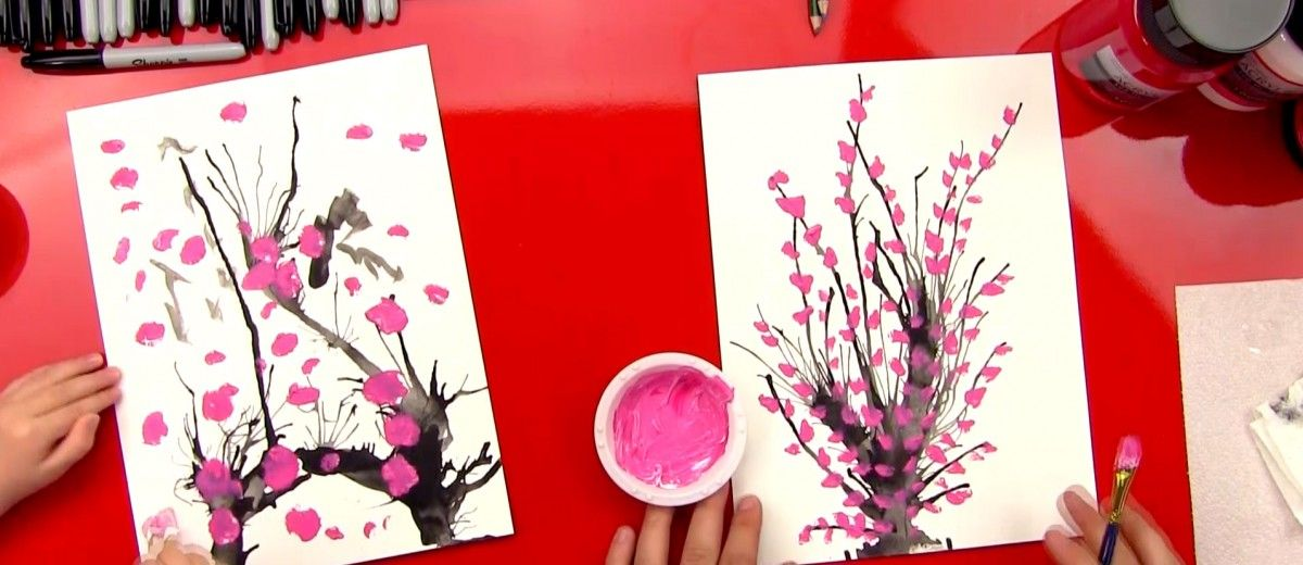 How To Paint Blossoms Art For Kids Hub Art For Kids Hub Kids Art Projects Blossoms Art