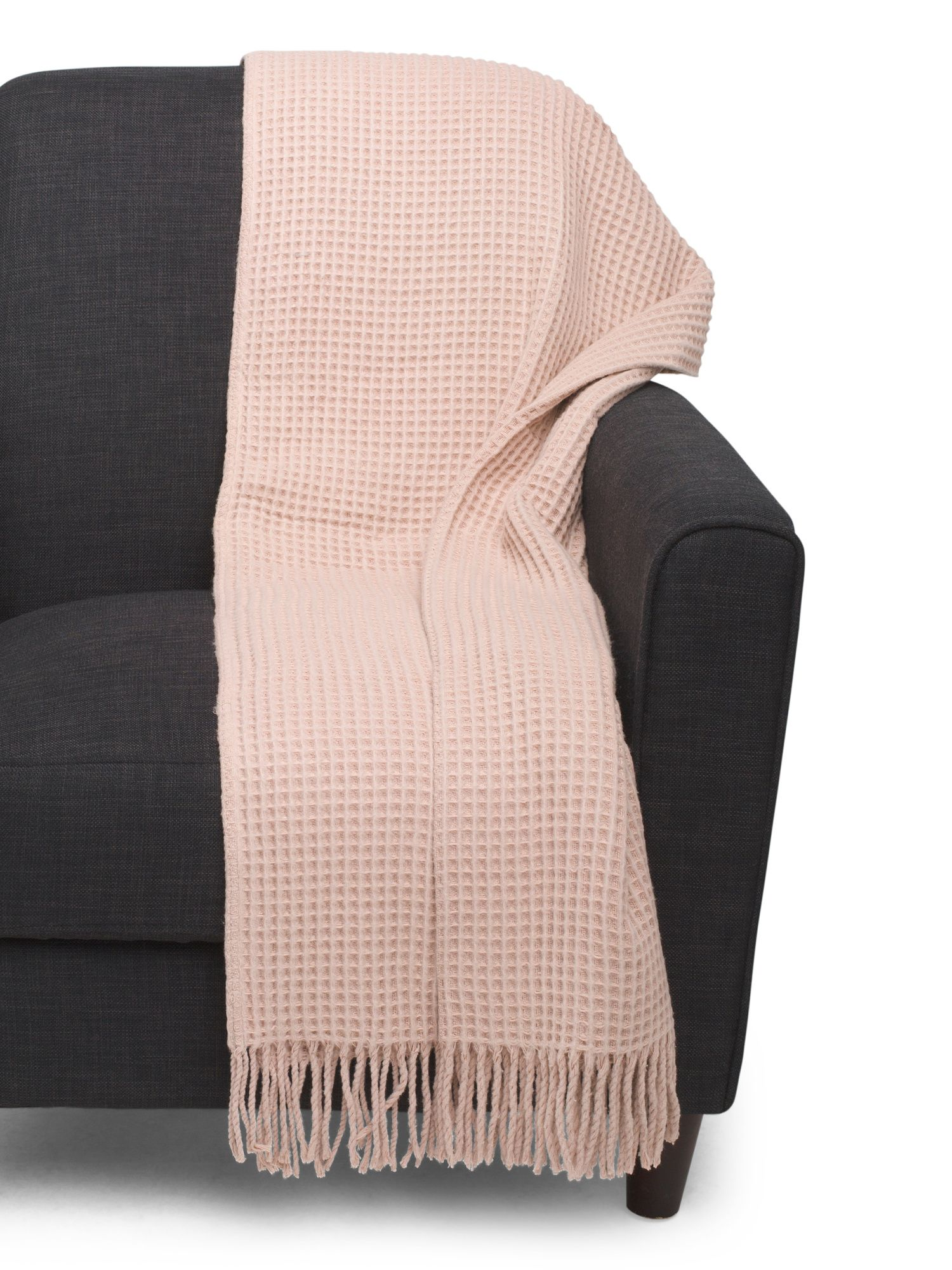 Made In Portugal Waffle Fringe Throw (With images
