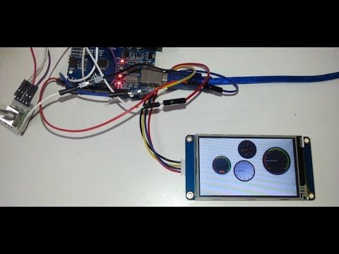 1) Step by step tutorial : creating Nextion gauges with Arduino