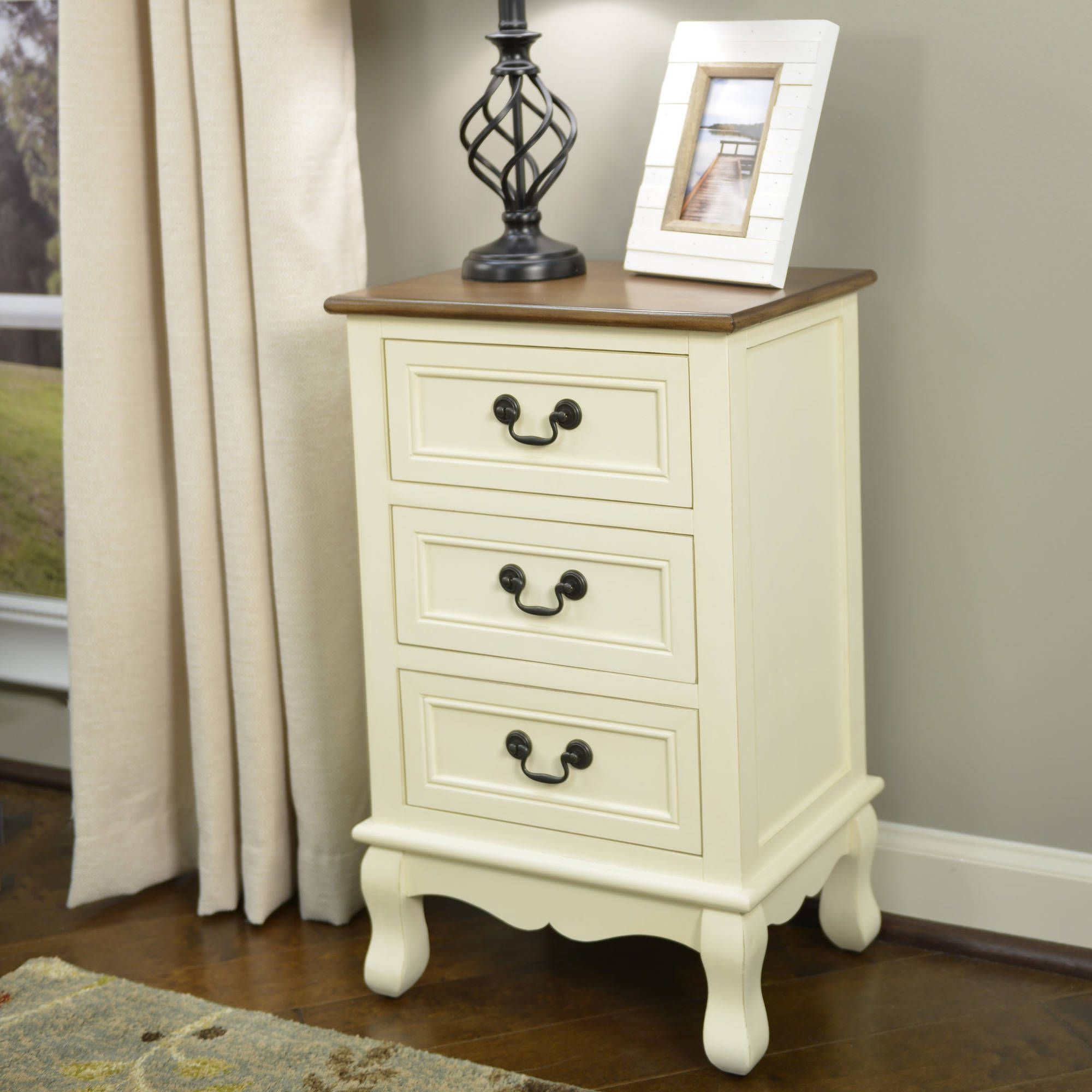 out contemporary nightstand kitchen drawer com dp dining iohomes homes silver inside end nilean amazon table
