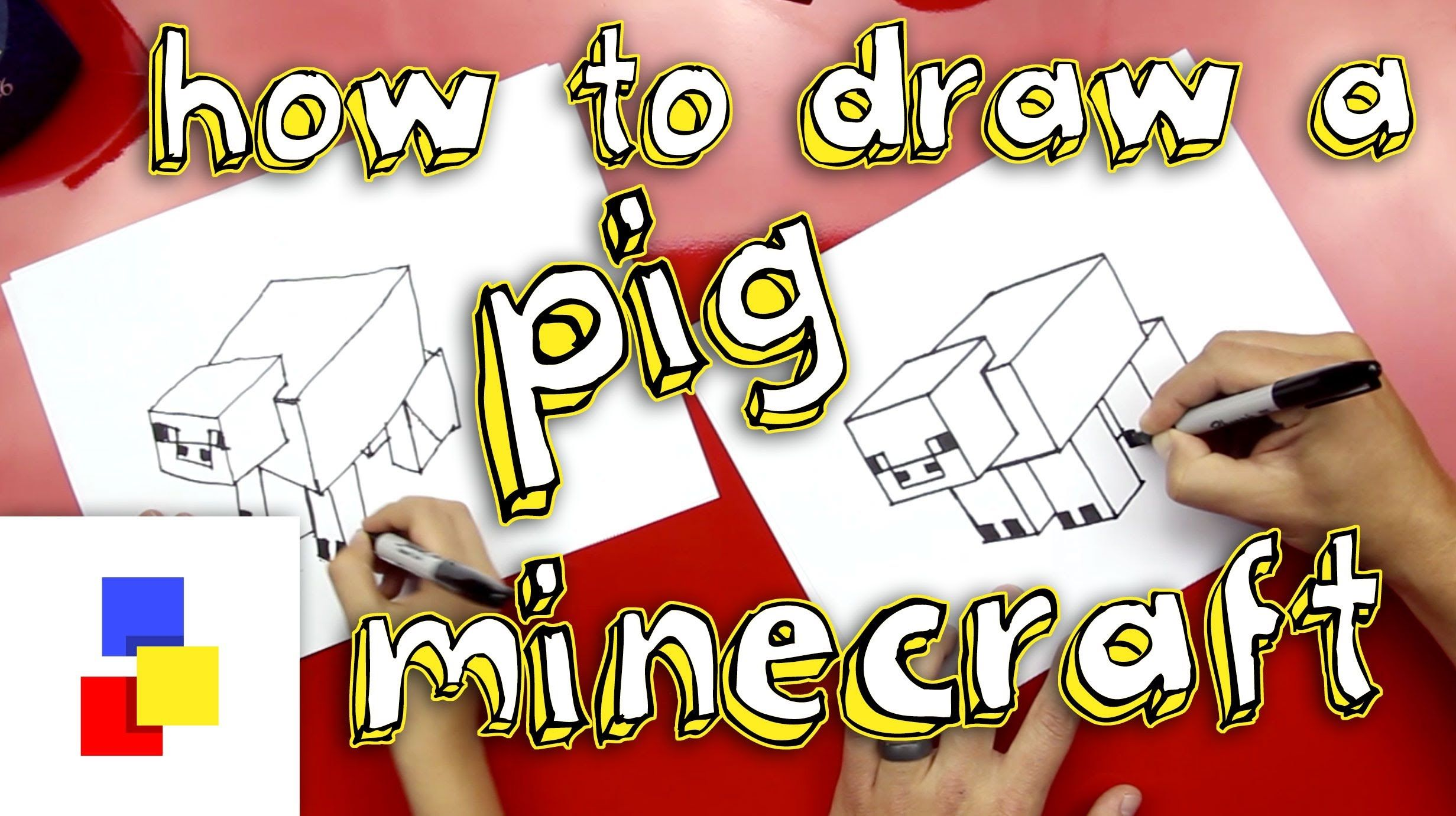 How To Draw A Pig From Minecraft - Use in FORM lesson as an early finisher project