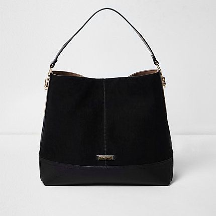 Black panel slouch bag  64.00  54f085f0eb248