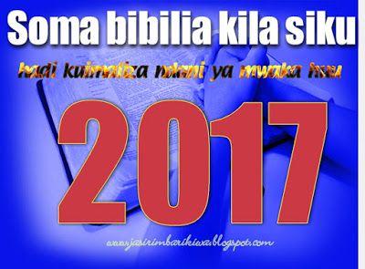 Mpangilio Wa Kusoma Na Kuimaliza Bibilia 2017 Allianz Logo Gospel Ministry