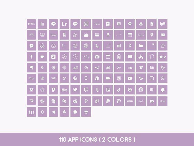 Bts Ios14 App Icons I Purple You Theme Iphone Deco Ios Etsy In 2021 App Icon Iphone Photo App Themes App