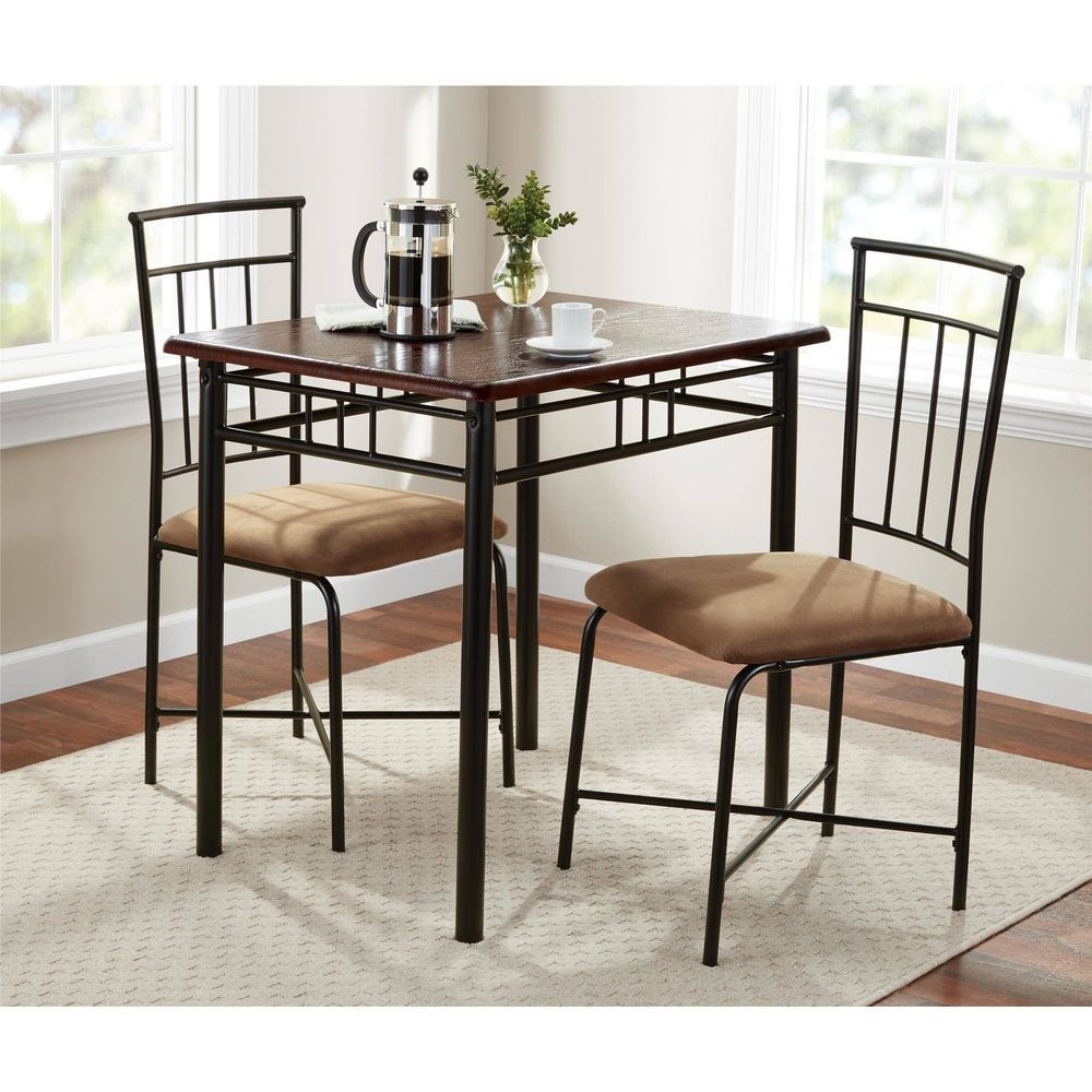 3 Piece Dining Table Set Bistro Metal Chairs Breakfast Small Extraordinary Three Piece Dining Room Set Decorating Design