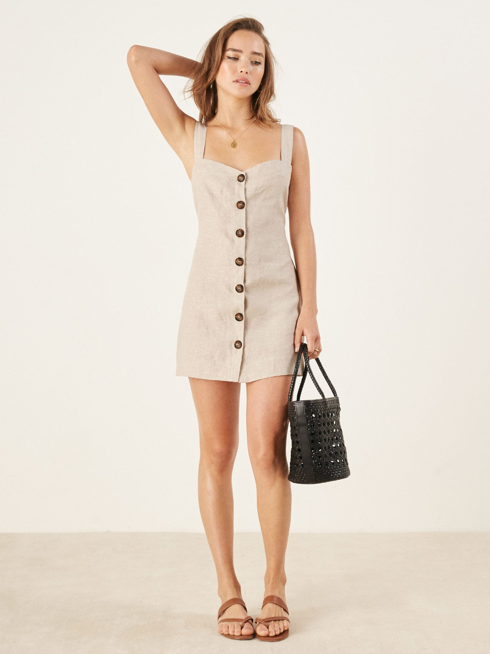 1e12373225 Larger View of Product Button Front Dress