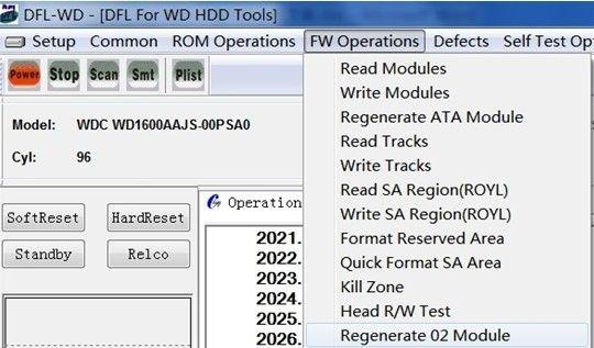 Wd hdd repair tools