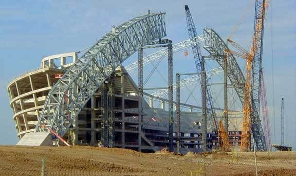 dallas cowboy stadium construction When creating at&t stadium home for the dallas cowboys construction inspired them to think beyond the expected bonds of stadium design.