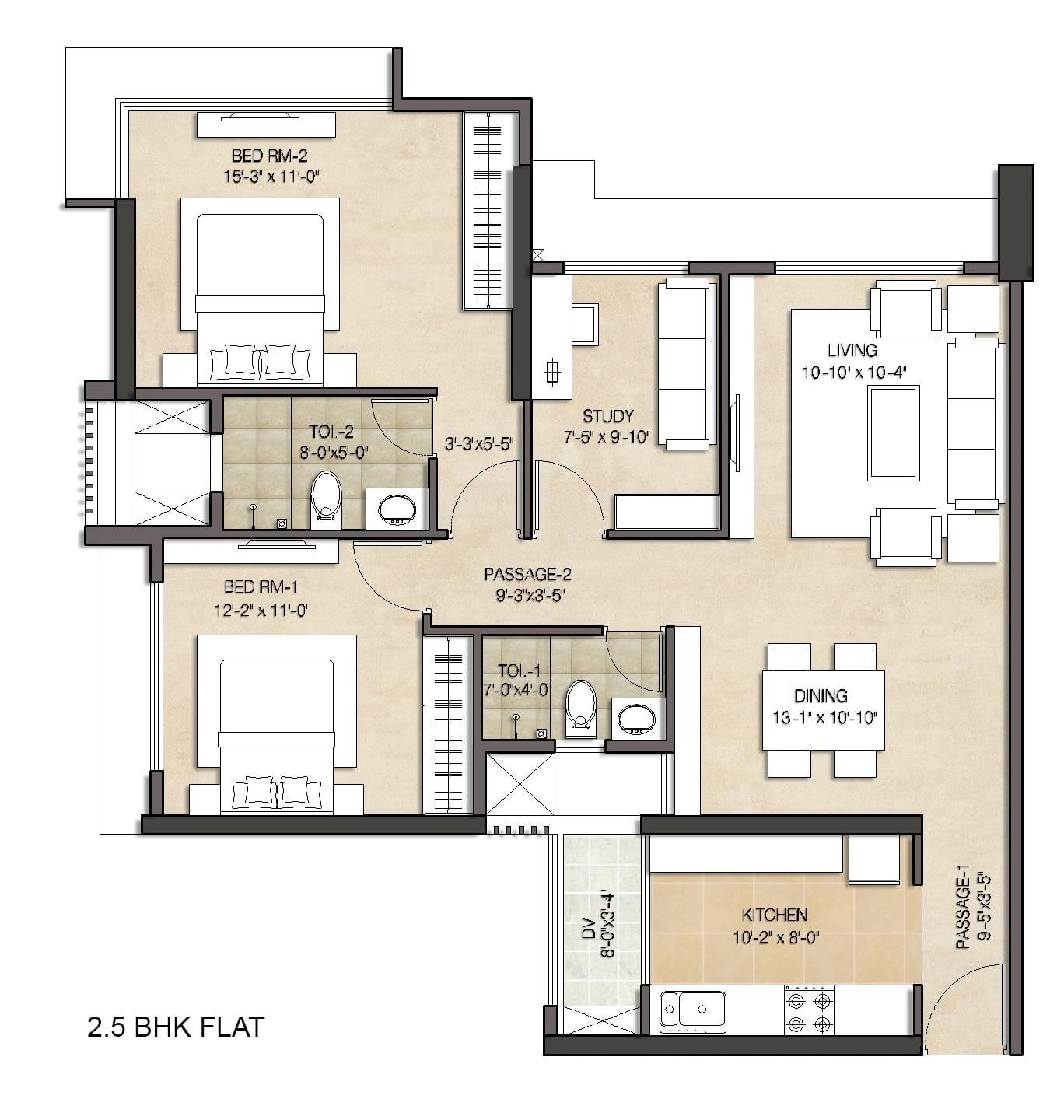 Floor Plans Of Anmol Fortune Apartment Floor Plans House Plans Floor Plans