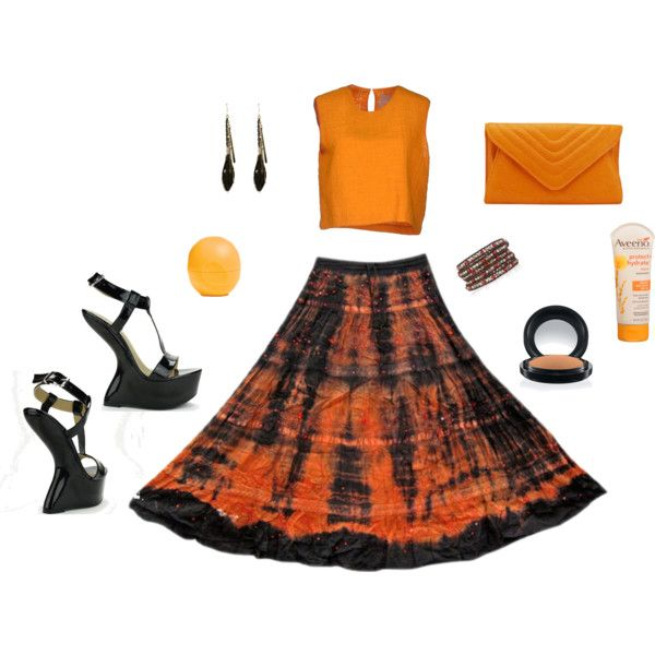 """Boho Summer"" by guiltysoles on Polyvore  Get these gravity wedges and orange clutch for 19.95 each with a 49.95 1-year membership.  Only @ http://www.guiltysoles.com"