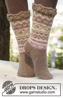 virka sockor gratis mönster