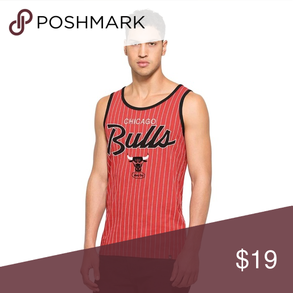 268bab4831042e NBA Chicago Bulls Men s 47 Brand Pinstripe Tank Support your favorite team  in style  amp