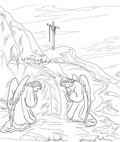 Empty Tomb Coloring Page From Jesus Resurrection Category Select From 24114 Printable Crafts Of Cartoons Natur Empty Tomb Coloring Pages Bible Coloring Pages