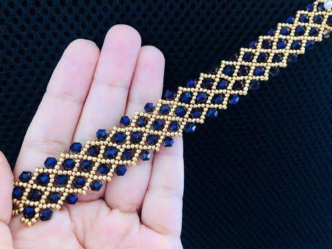 Bicone Bracelet || DIY Beaded Bracelet