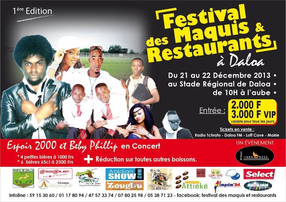 Fête de Noël 2013: Festival des maquis et restaurants