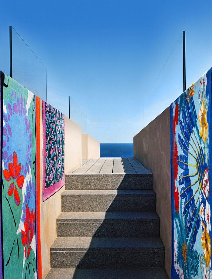 L 39 t indien outdoor room drap de plage tapis de plage et plage - Kenzo maison pour yves delorme ...
