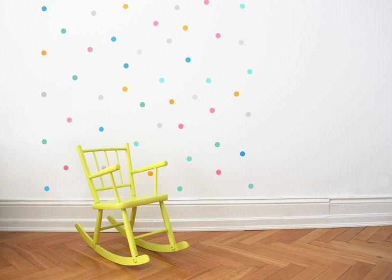 Babyzimmer Wandsticker ~ Wandsticker happy konfetti bunt stück kids rooms room and