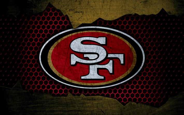 Download wallpapers San Francisco 49ers, 4k, logo, NFL