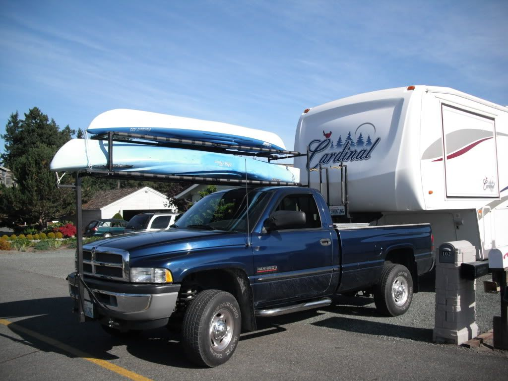 Over cab canoe rack