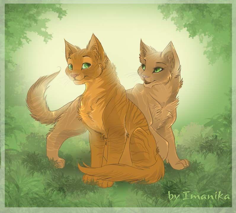 Výsledek obrázku pro warriors cats firestar and sandstorm