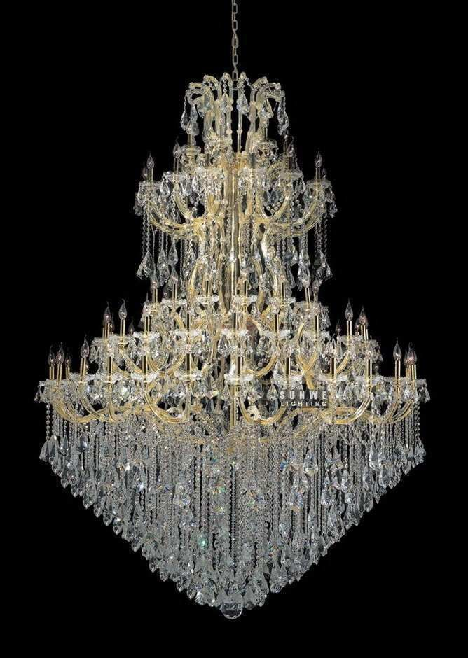 Aliexpress.com : Buy Large Crystal Chandelier Lighting Luxury Candle  Chandelier Light For Hall C9296 195cm W X 340cm H From Reliable Light In  The Box Mp3 ...
