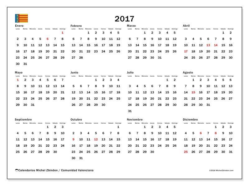 Gratis calendarios para 2017 para imprimir espaa calendario calendario para imprimir gratis para de das festivos en la comunidad valenciana impresin espaa imprimir rpida y fcilmente su calendario en hd urtaz Choice Image