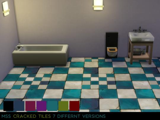 AstridJ — Cracked Tiles Sims 4 studio, Sims 4, Tiles