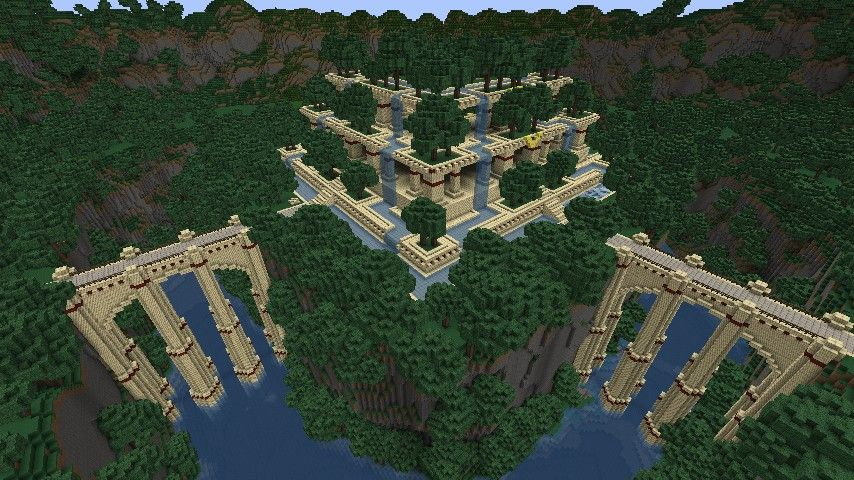 Hanging Gardens Minecraft Map Minecraft Projects Minecraft