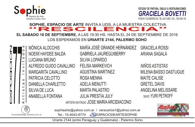 "Graciela BOVETTI: "" Rescilencia ""  Pinzon en Uriarte"