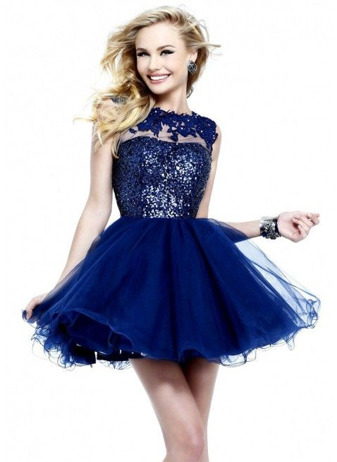 Boat Neck Sequin Lace Homecoming Dresses by Sherri Hill 21217