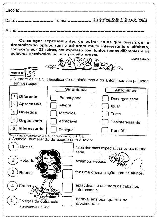 Famosos Atividades+de+portugues+5%C2%B0+ano+com+gabarito.png (637×876  SG03