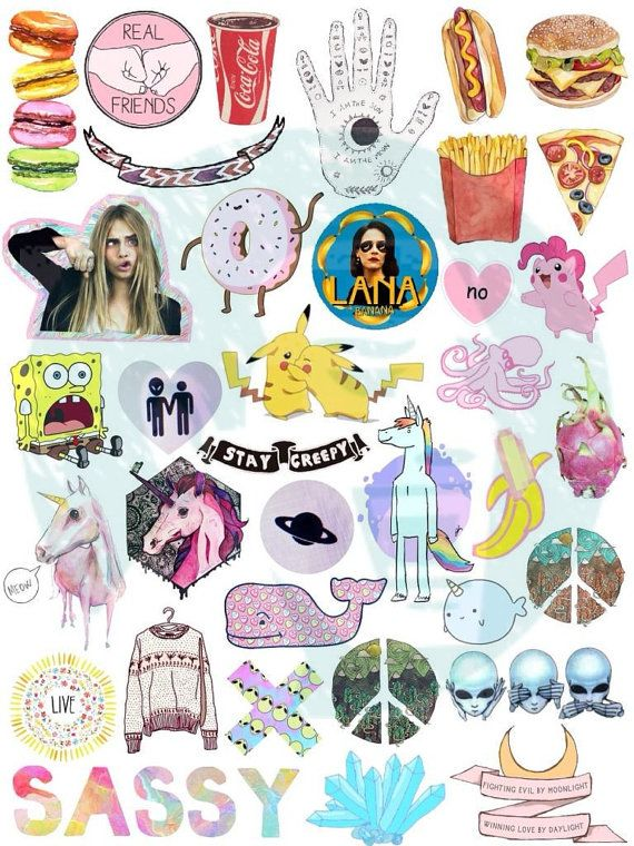 Set #37 Tumblr Stickers Stickers Set of stickers Decals in 2019