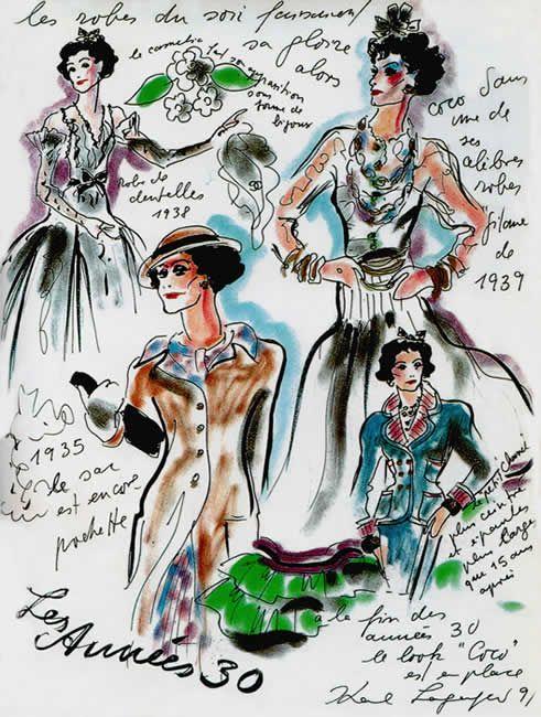 Coco Chanel, Gabrielle Chanel (1883-1971) | Croquis, Mujeres jóvenes ...