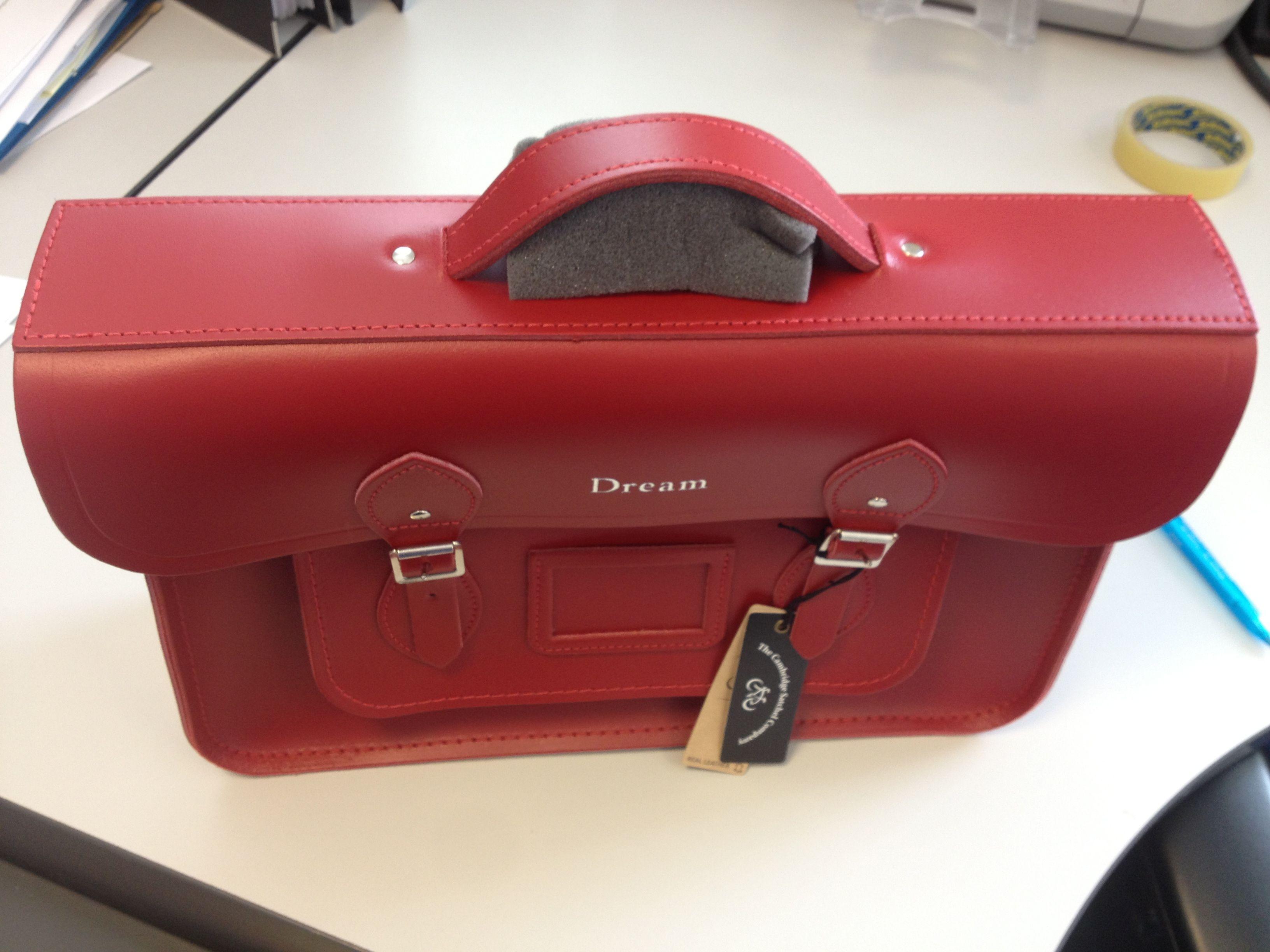 Cambridge satchel red 15