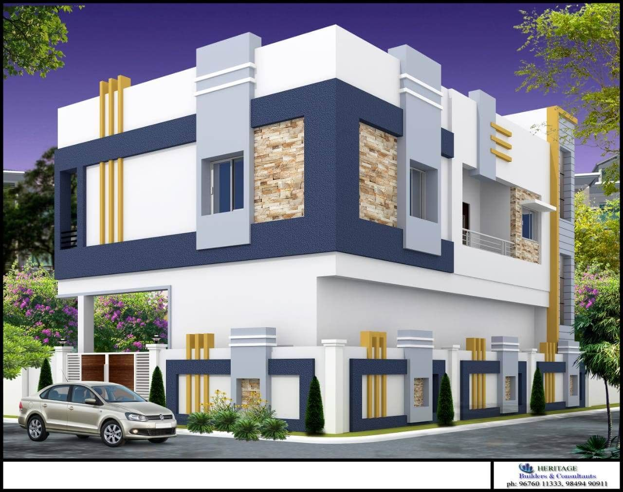 Building elevation house elevation compound wall design front elevation designs boundary walls