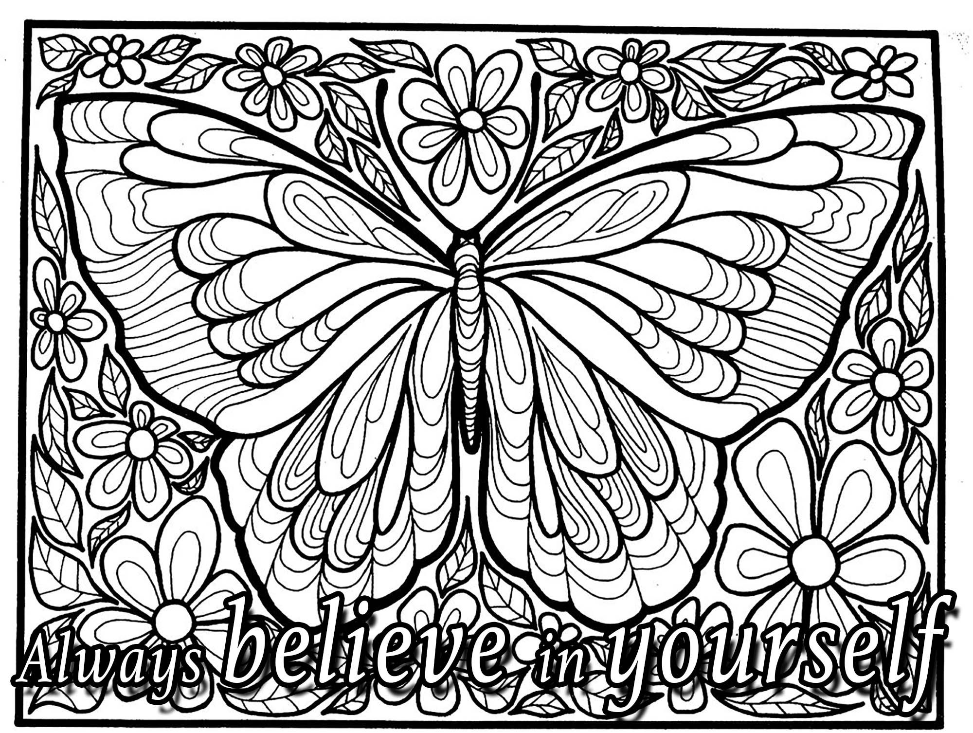 Relax Yourself With Our Inspiring Quote Coloring Pages
