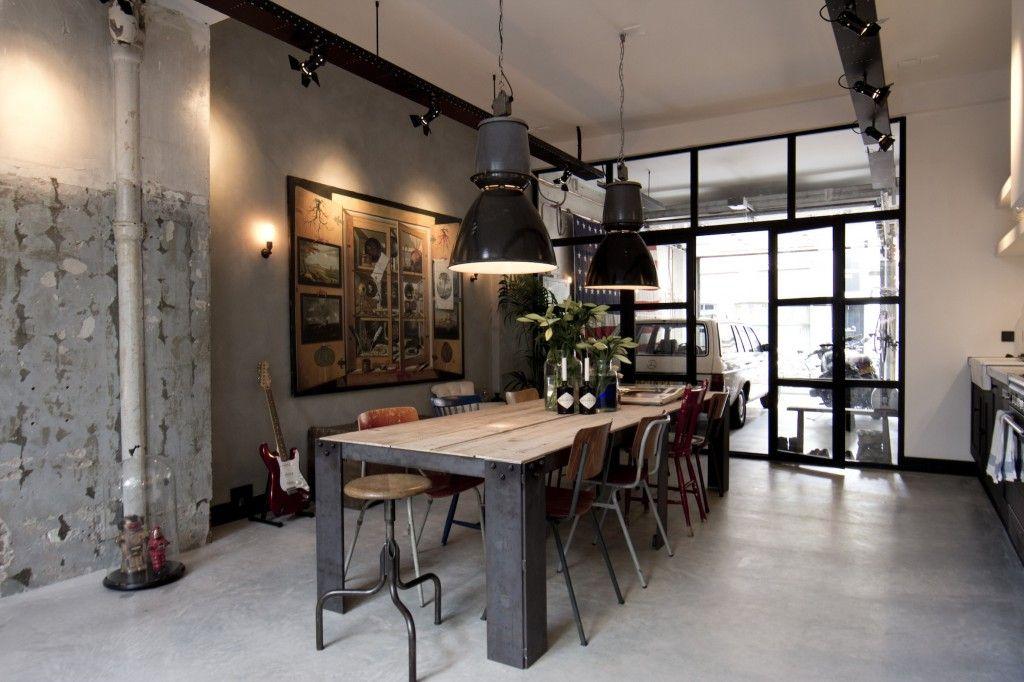 Garage Loft By Bricks Amsterdam Dining Room Industrial Dining