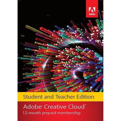 Adobe Creative Cloud Student And Teacher Edition 1 Year Prepaid Subscription Card Mac Windows 65222646 Best Buy Adobe Creative Cloud Creative Cloud Adobe Creative