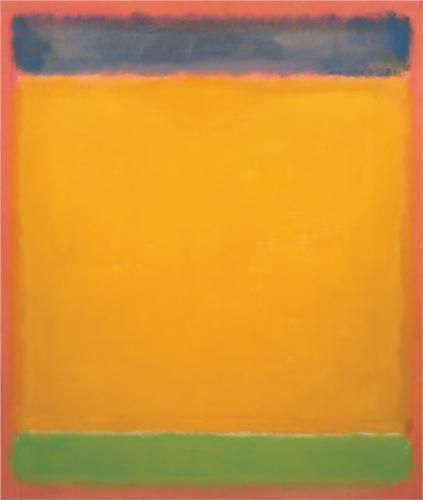 """"""" Mark Rothko, United (Blue, Yellow, Green on Red) """""""