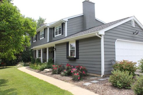 amherst gray by benjamin moore home exterior grown up. Black Bedroom Furniture Sets. Home Design Ideas
